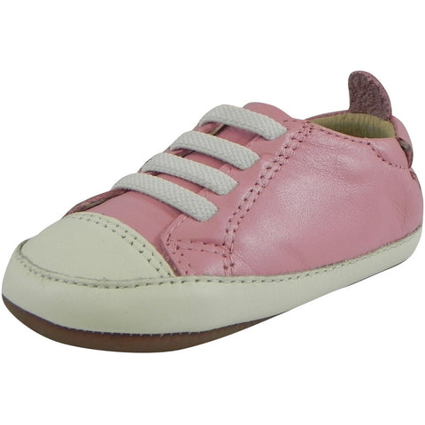 Old Soles Girl's Soft Leather Pink Crib Walker Baby Shoes