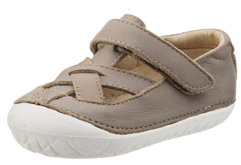 Old Soles Boy's and Girl's Thread Pave Leather Sandal Sneakers, Elephant Grey