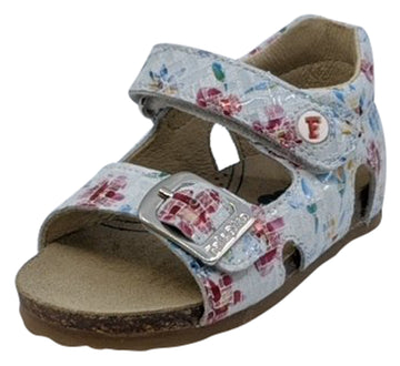 Naturino Falcotto Girl's Bea Fiori Open Toe Sandals, Bianco/Multi