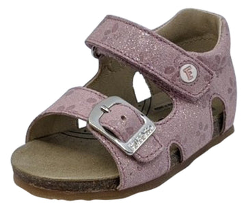 Naturino Falcotto Girl's Bea Vel Glitter Fiori Open Toe Sandals, Rosa