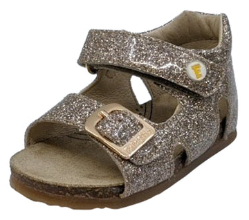 Naturino Falcotto Girl's Bea Glossy Open Toe Sandals, Platino