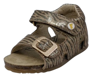 Naturino Falcotto Girl's Bea St.Zebra Lam Open Toe Sandals, Platino