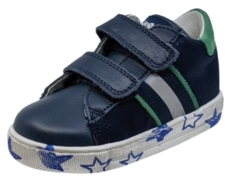 Naturino Falcotto Boy's New Leryn Fashion Sneakers, Navy/Verde