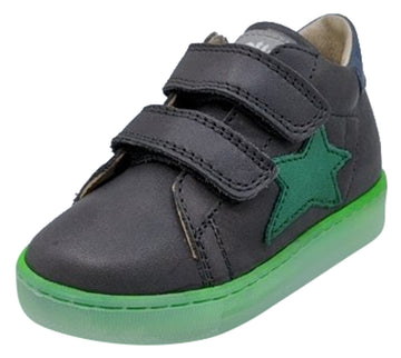 Naturino Falcotto Girl's Sasha Vl Nappa Spazz. Fashion Sneakers, Antracite/Verde/Celeste