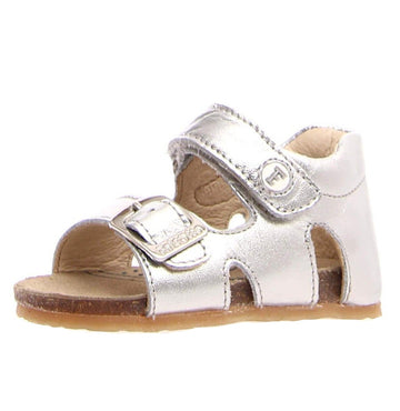 Naturino Falcotto Boy's and Girl's Bea Open Toe Sandals - Metallic Silver