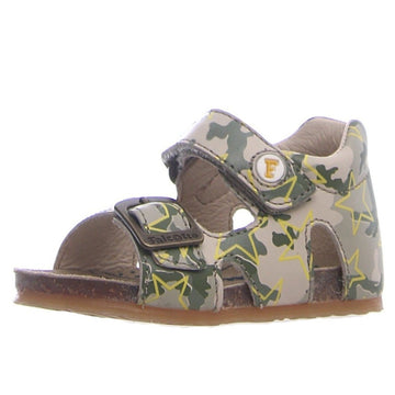 Naturino Falcotto Boy's and Girl's Bea Camo Stars Sandals - Beige