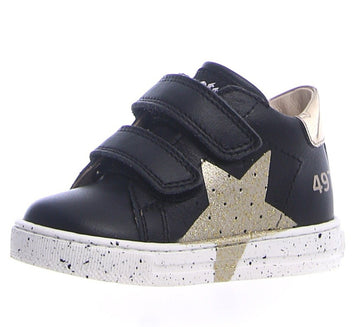 Naturino Falcotto Boy's & Girl's Salazar Vl Calf Sneaker Shoes - Nero/Platino