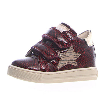 Naturino Falcotto Boy's & Girl's Sasha Vl Florida Shine/St. Zebra Fashion Sneakers - Lam Bordeaux/Platino