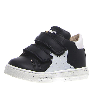 Naturino Falcotto Boy's and Girl's Venus Vl Star Sneaker Shoes - Black/White