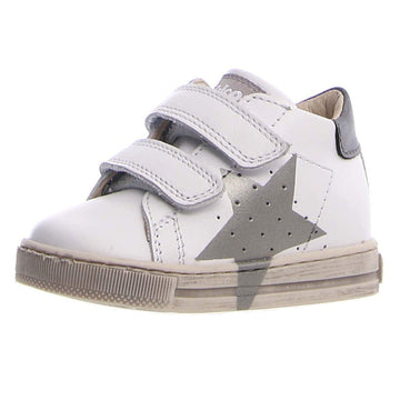Naturino Falcotto Boy's and Girl's Venus Vl Star Sneaker Shoes - White/Inox