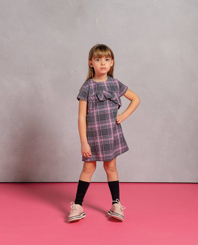 Fracomina Mini Multi Plaid Dress
