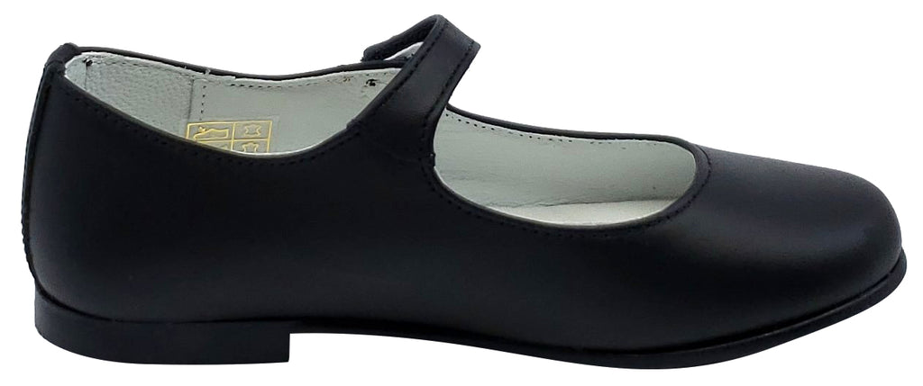 Gepetto's Girl's Mary Jane Leather Galaxy Black Dress Shoe