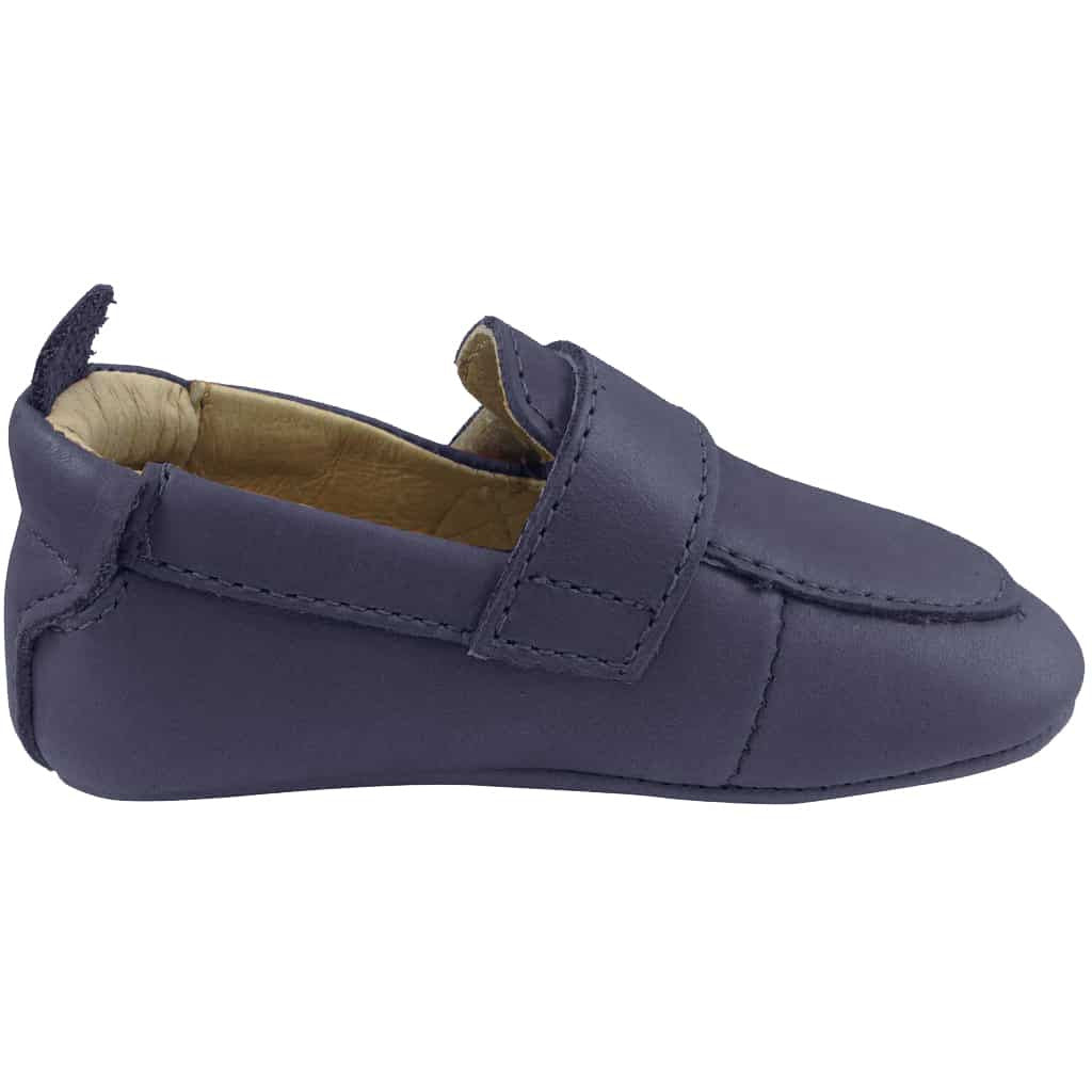 Old Soles Boy's 043 Global Navy Leather Loafer Shoe
