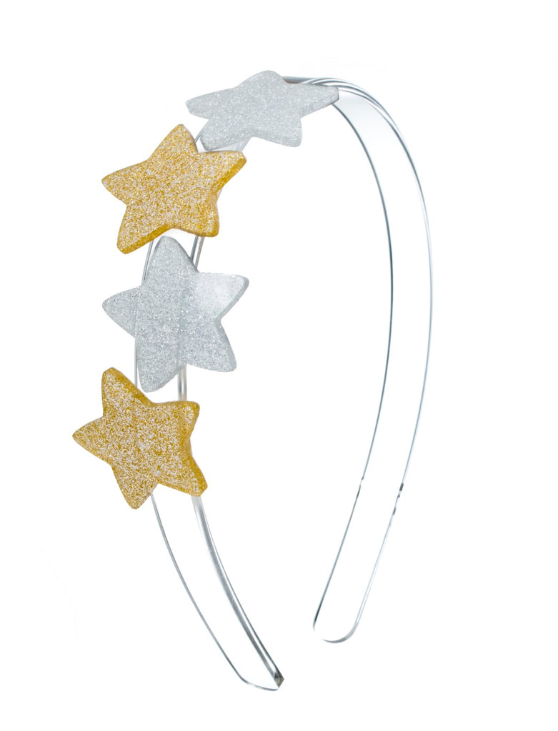 Lilies & Roses NY Girl's Gold and Silver Star Headband