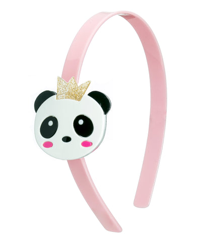 Lilies & Roses NY Girl's Panda Bear Light Pink Headband