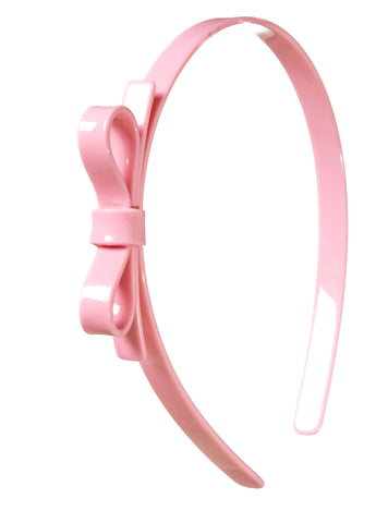 Lilies & Roses NY Girl's Light Pink Small Bow Headband