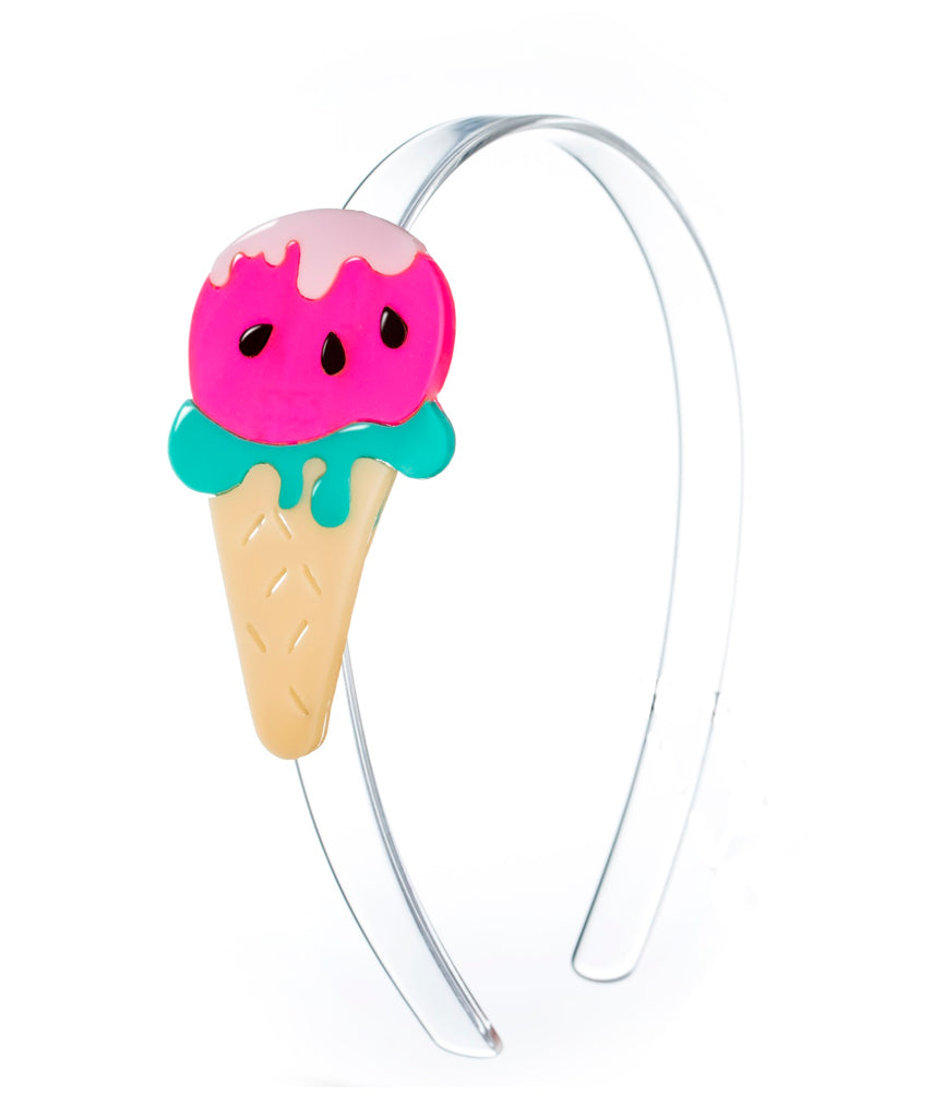 Lilies & Roses NY Girl's Watermelon Ice Cream Headband