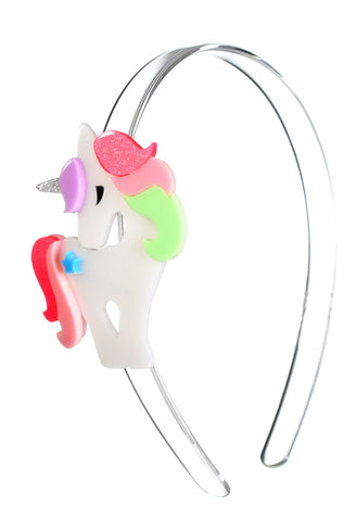 Lilies & Roses NY Girl's Colorful Rainbow Unicorn Headband