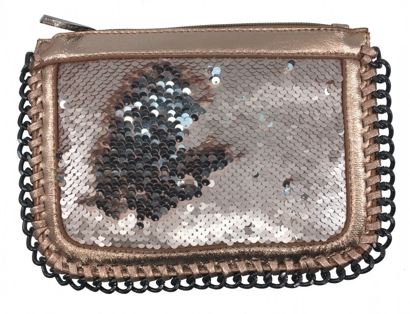Bari Lynn Girl's Rose Gold Reversible Sequin Chain Handbag