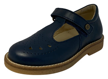 Naturino Girl's Heather Vitello Flat Shoes, Navy