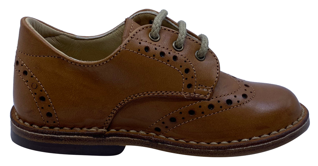 Eureka Boy's and Girl's Box Naturale Handcrafted Leather Oxford
