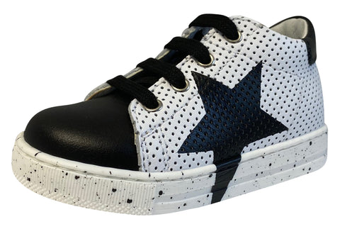 Naturino Falcotto Boy's Venus Vit/Vit.Forato Fashion Sneakers, Nero/Bianco