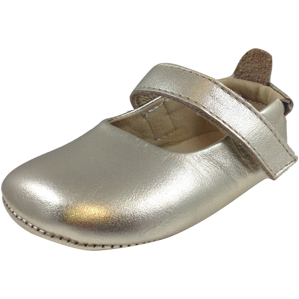 Old Soles Girl's 022 Gold Leather Gabrielle Mary Jane - Just Shoes for Kids  - 1