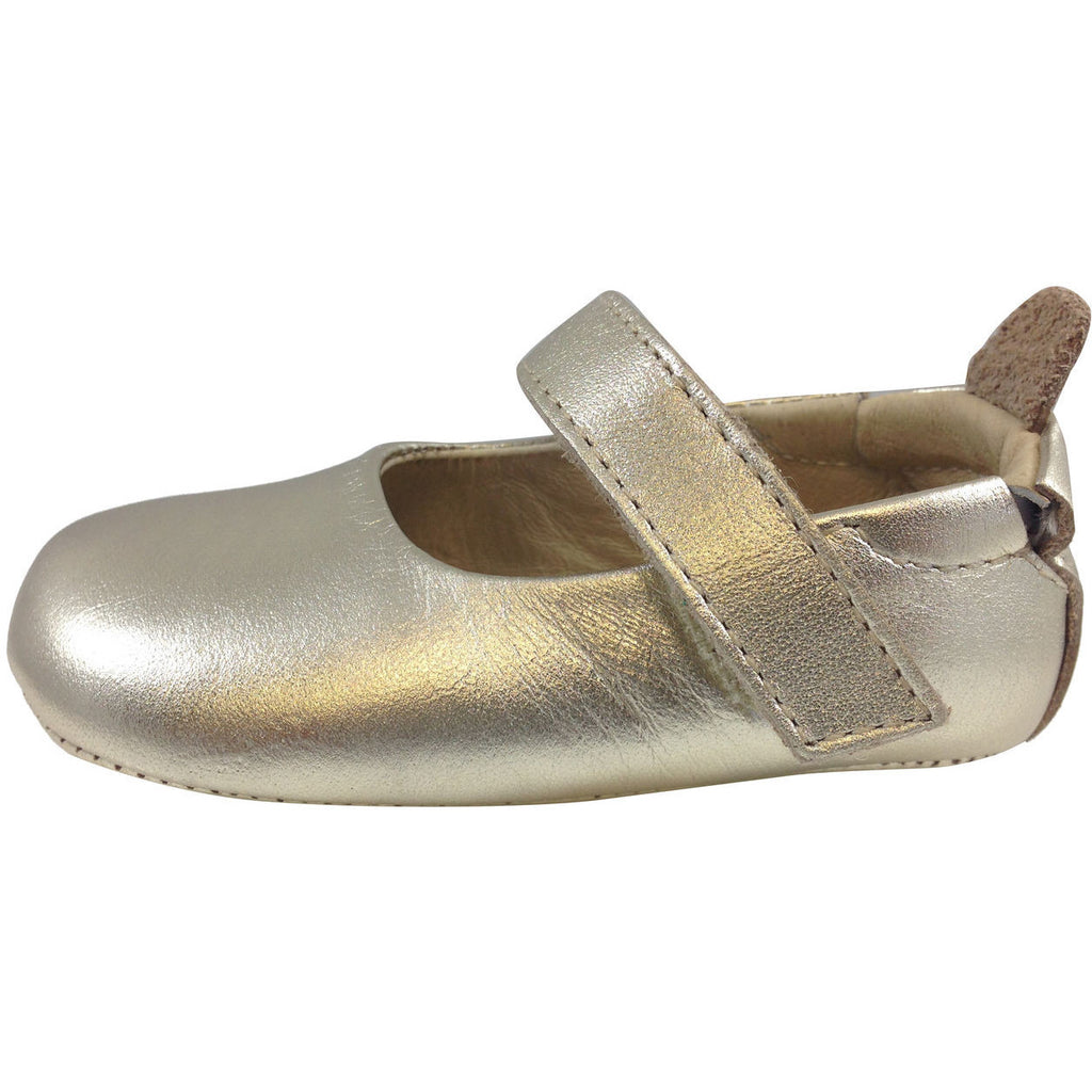 Old Soles Girl's 022 Gold Leather Gabrielle Mary Jane - Just Shoes for Kids  - 2
