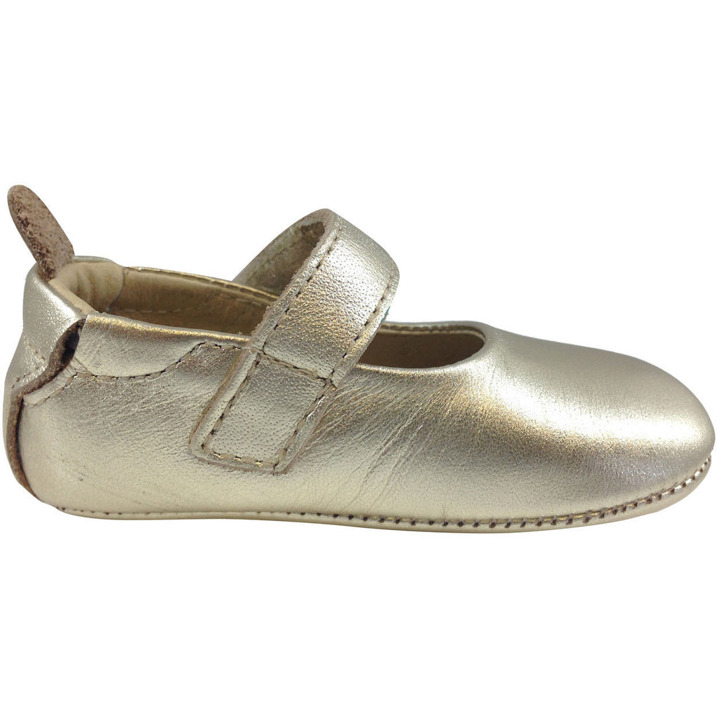 Old Soles Girl's 022 Gold Leather Gabrielle Mary Jane - Just Shoes for Kids  - 5