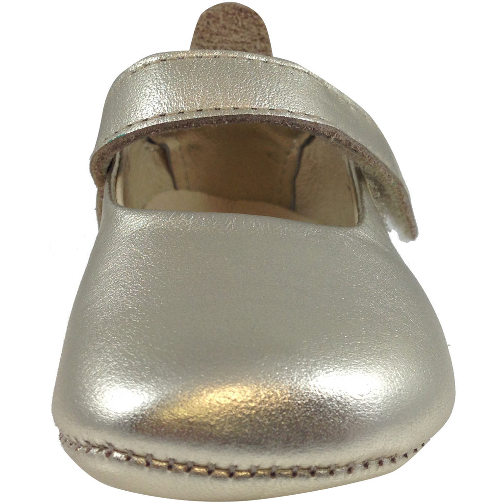 Old Soles Girl's 022 Gold Leather Gabrielle Mary Jane - Just Shoes for Kids  - 4