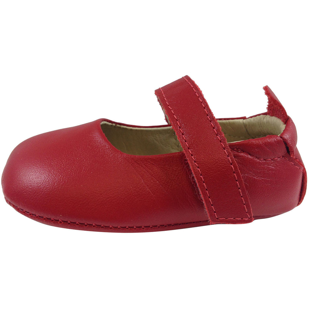 Old Soles Girl's 022 Red Leather Gabrielle Mary Jane - Just Shoes for Kids  - 2
