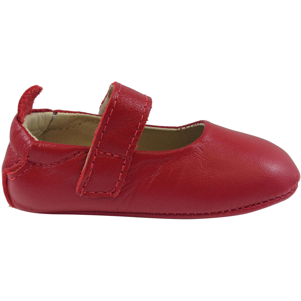 Old Soles Girl's 022 Red Leather Gabrielle Mary Jane - Just Shoes for Kids  - 6