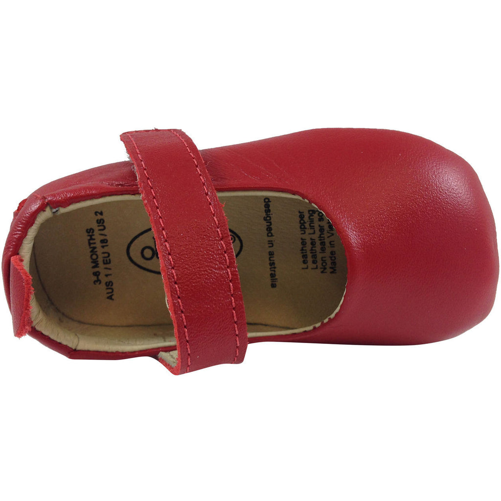 Old Soles Girl's 022 Red Leather Gabrielle Mary Jane - Just Shoes for Kids  - 4