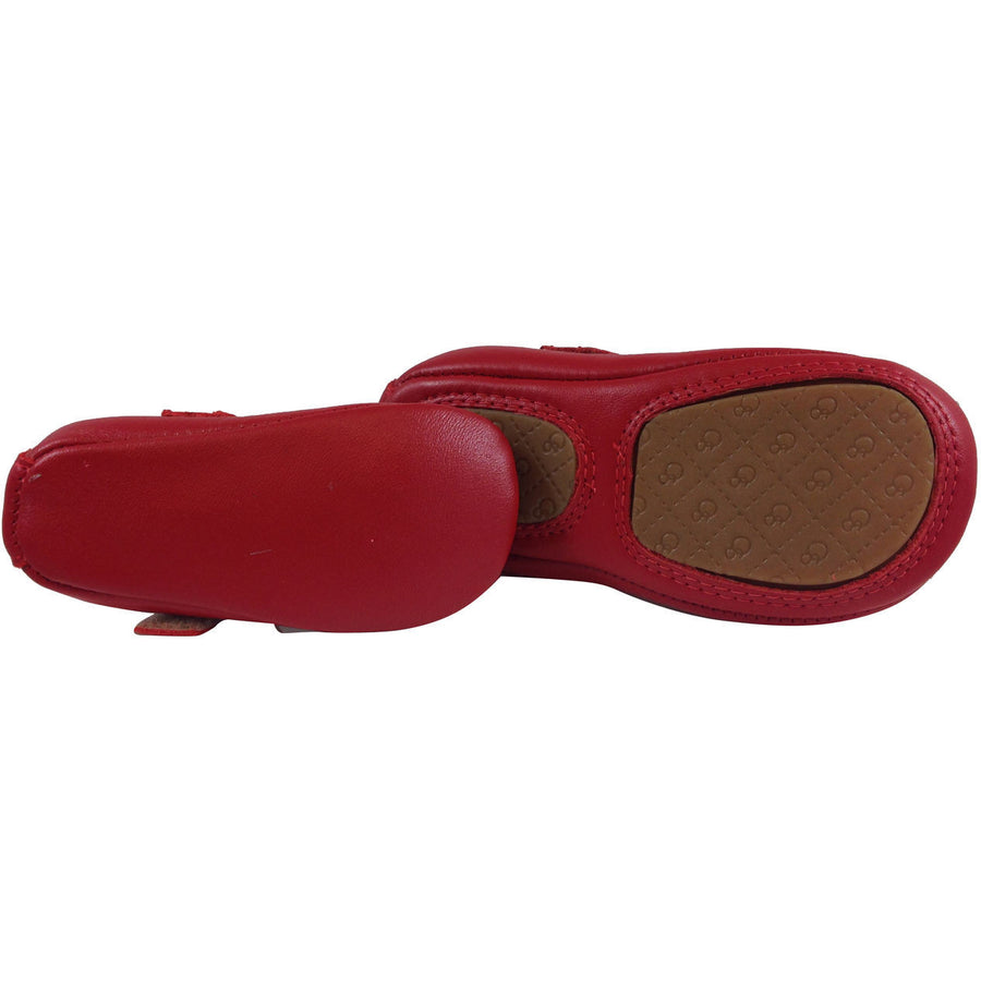 Old Soles Girl's 022 Red Leather Gabrielle Mary Jane - Just Shoes for Kids  - 7