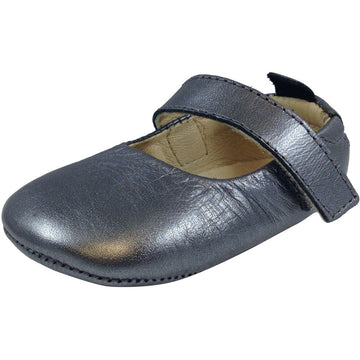 Old Soles Girl's 022 Rich Silver Leather Gabrielle Mary Jane - Just Shoes for Kids  - 1