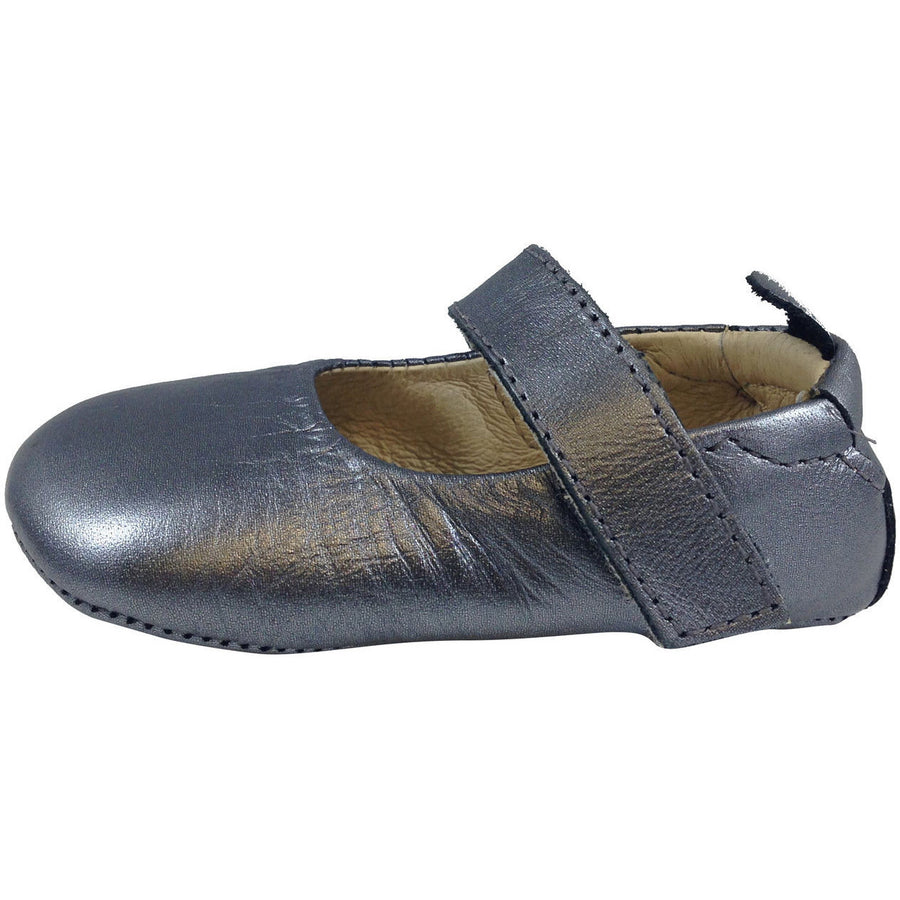 Old Soles Girl's 022 Rich Silver Leather Gabrielle Mary Jane - Just Shoes for Kids  - 2