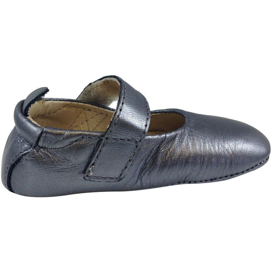 Old Soles Girl's 022 Rich Silver Leather Gabrielle Mary Jane - Just Shoes for Kids  - 4