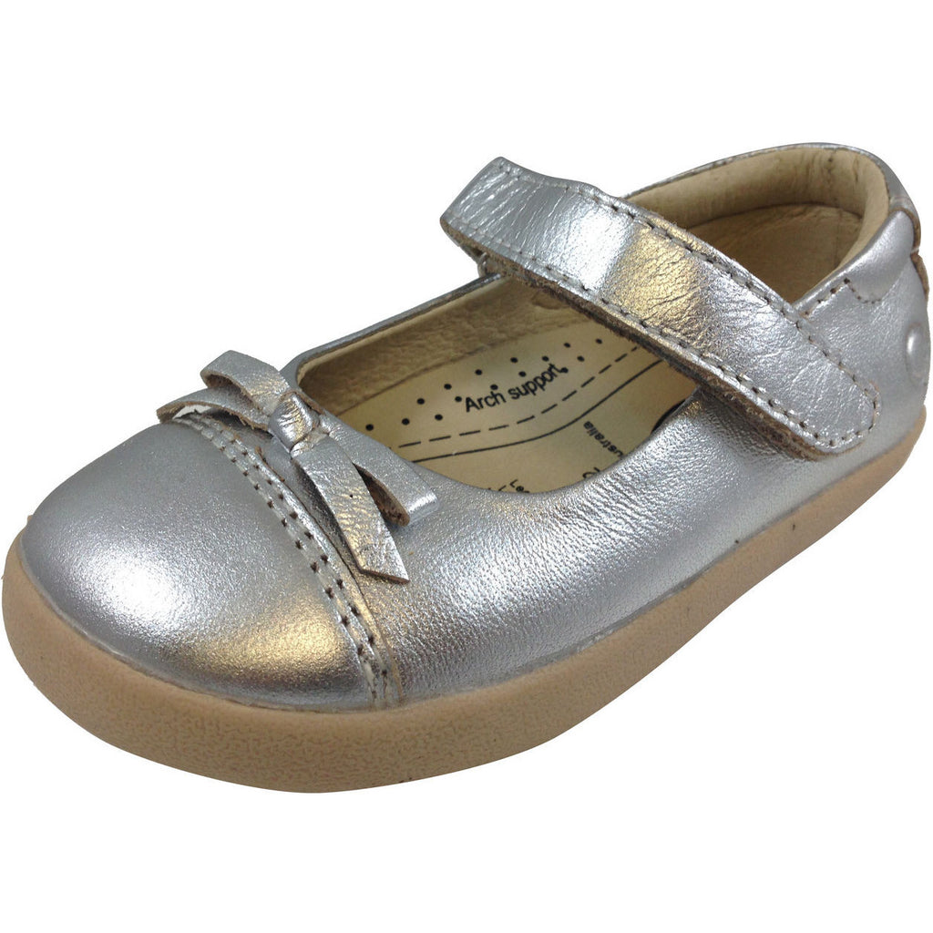 Old Soles Girl's 313 Silver Sista Flat - Just Shoes for Kids  - 1