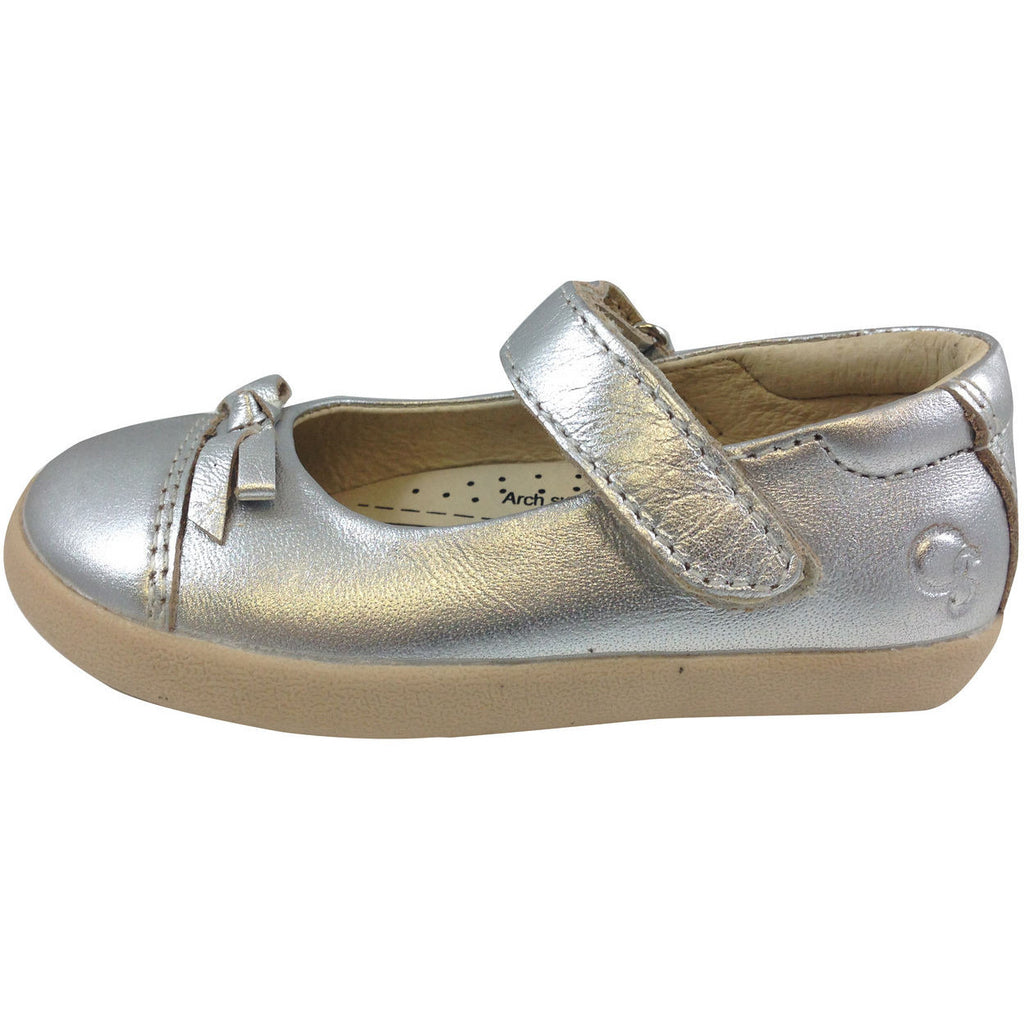Old Soles Girl's 313 Silver Sista Flat - Just Shoes for Kids  - 2