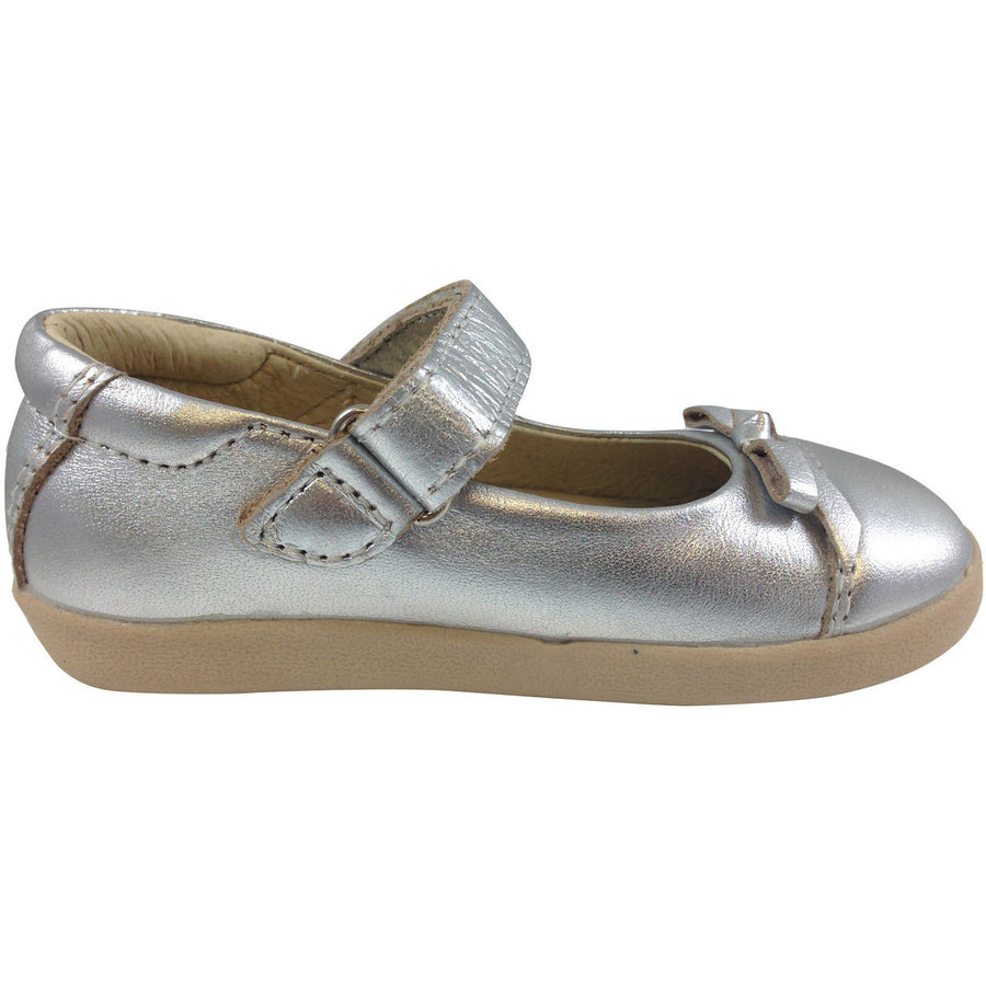 Old Soles Girl's 313 Silver Sista Flat - Just Shoes for Kids  - 4