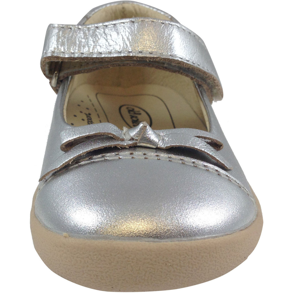 Old Soles Girl's 313 Silver Sista Flat - Just Shoes for Kids  - 5