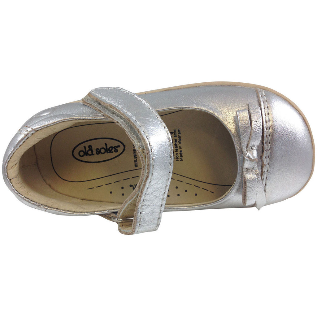 Old Soles Girl's 313 Silver Sista Flat - Just Shoes for Kids  - 6