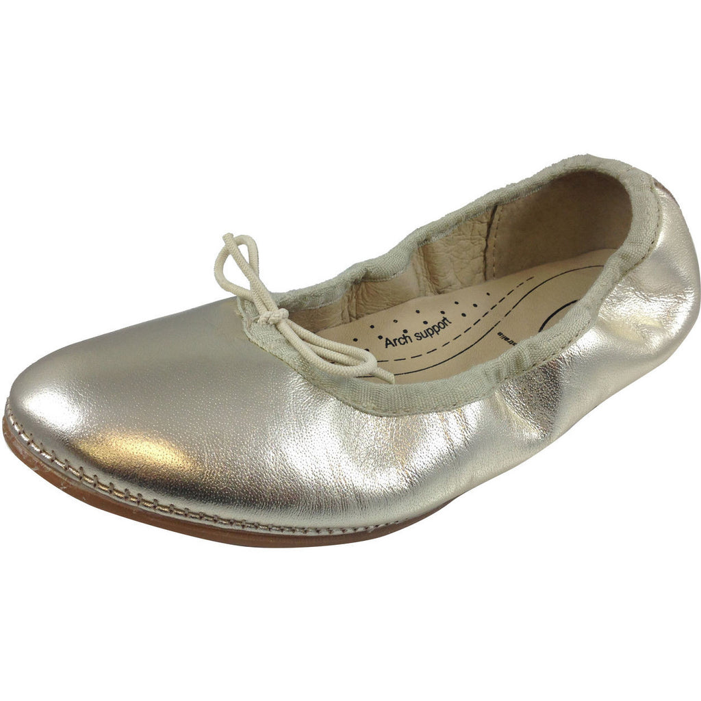 Old Soles Girl's Gold Cruise Ballet Flat - Just Shoes for Kids  - 1