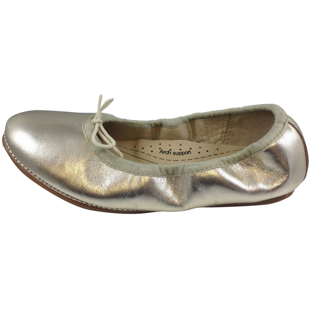 Old Soles Girl's Gold Cruise Ballet Flat - Just Shoes for Kids  - 2