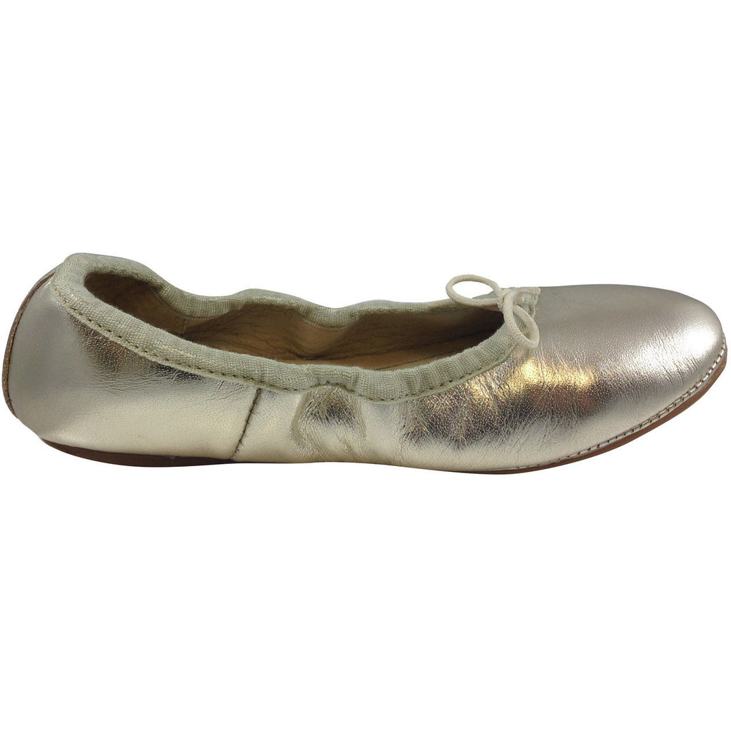 Old Soles Girl's Gold Cruise Ballet Flat - Just Shoes for Kids  - 4