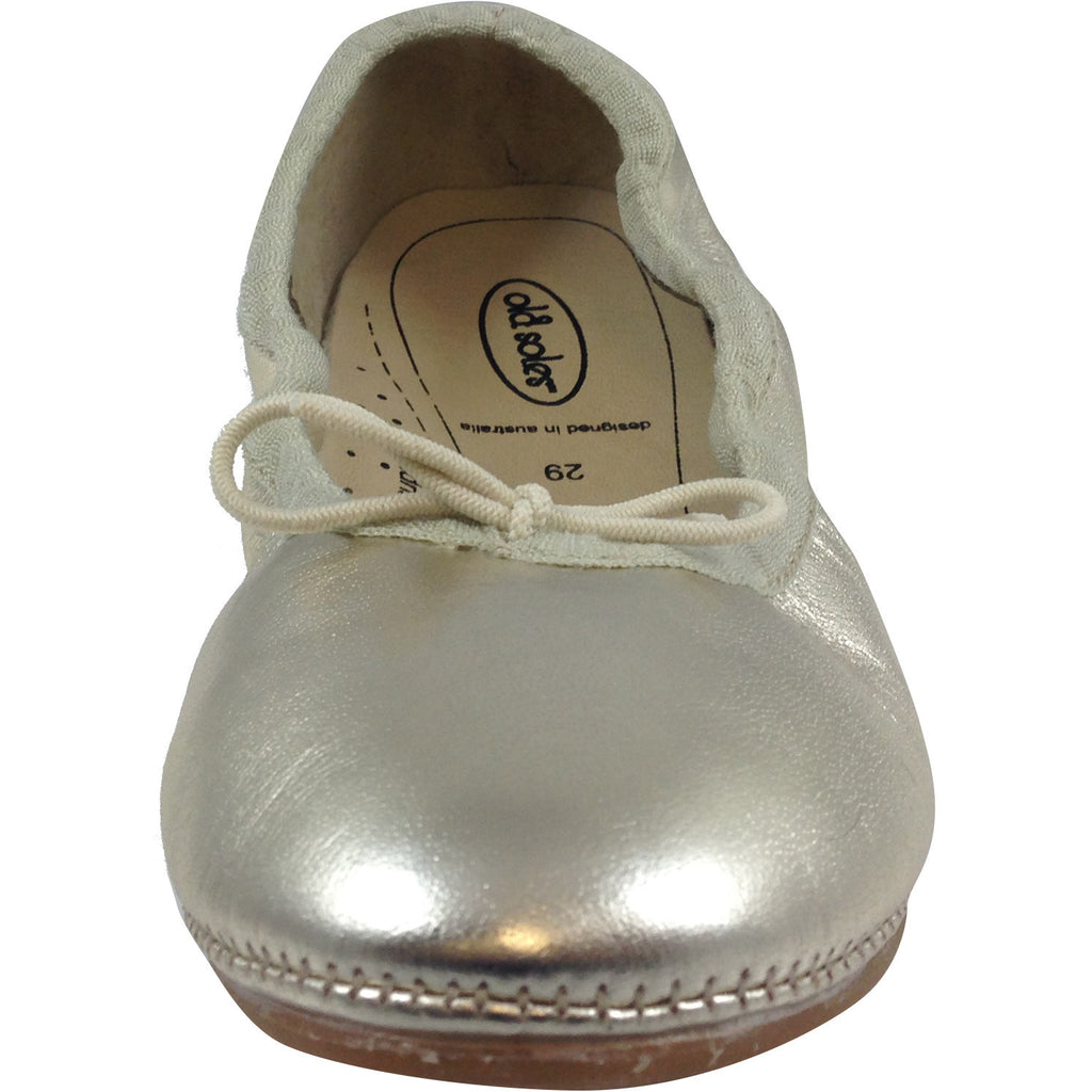 Old Soles Girl's Gold Cruise Ballet Flat - Just Shoes for Kids  - 7