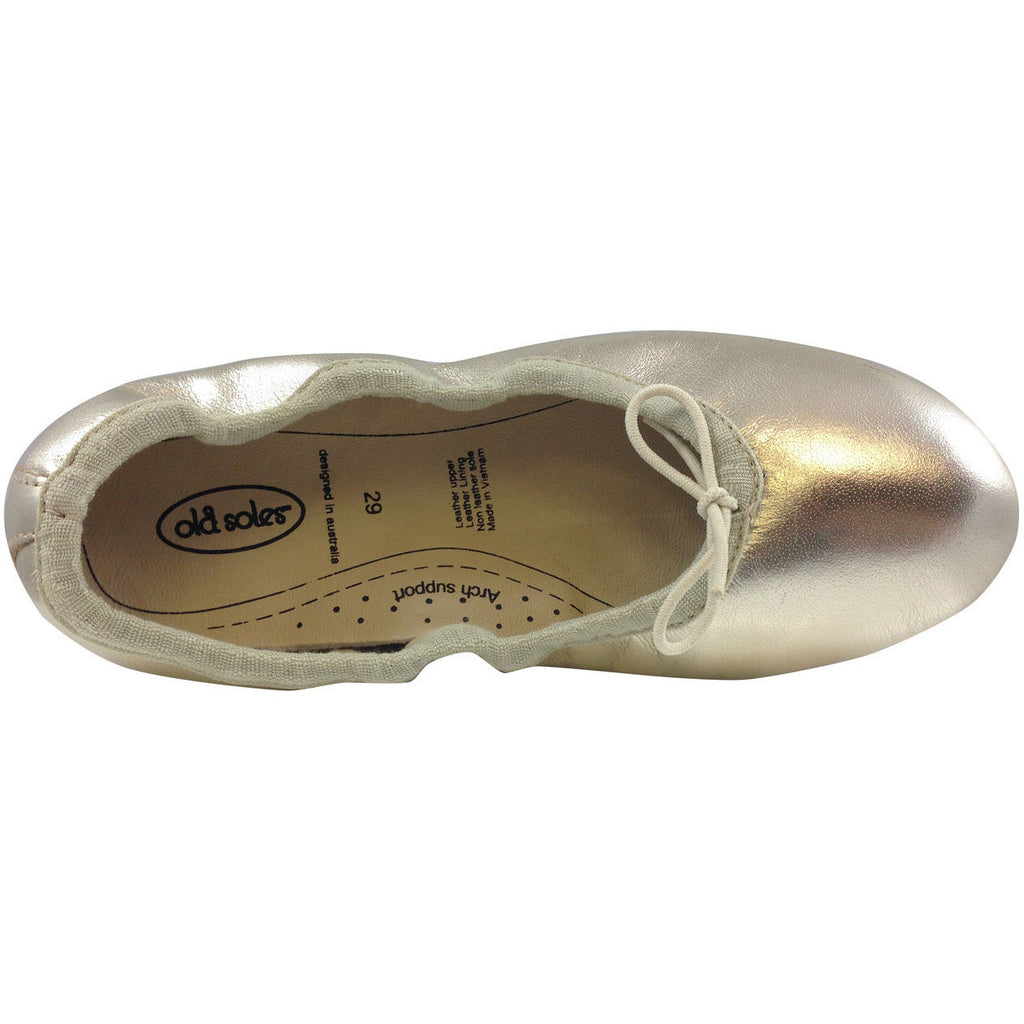 Old Soles Girl's Gold Cruise Ballet Flat - Just Shoes for Kids  - 5