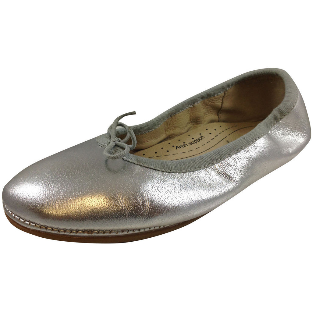 Old Soles Girl's Silver Cruise Ballet Flat - Just Shoes for Kids  - 1
