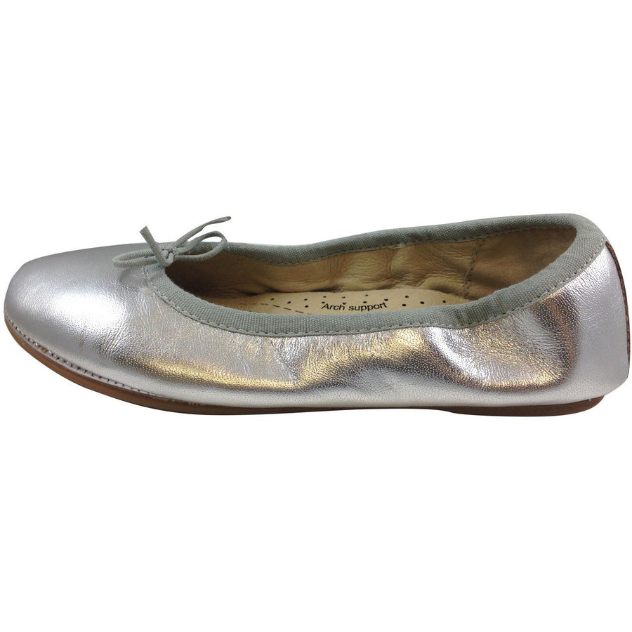 Old Soles Girl's Silver Cruise Ballet Flat - Just Shoes for Kids  - 2