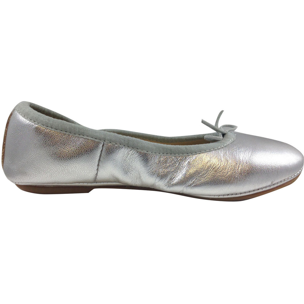Old Soles Girl's Silver Cruise Ballet Flat - Just Shoes for Kids  - 4